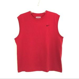 Nike red sports muscle tank L
